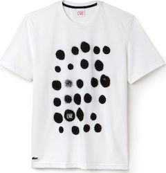 Lacoste Spray Paint Print Jersey White