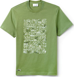 Lacoste Print Cotton Jersey Green
