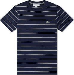 Lacoste Striped Cotton Navy