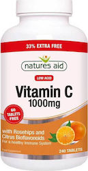 Natures Aid Vitamin C Low Acid 1000mg 240 ταμπλέτες