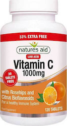 Natures Aid Vitamin C Low Acid 1000mg 120 ταμπλέτες
