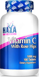 Haya Labs Vitamin C with Rose Hips 1000mg 100 ταμπλέτες