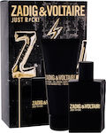 Zadig & Voltaire Just Rock! Eau de Toilette 50ml & Shower Gel 100ml