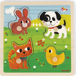 Tactile Puzzle My First Animals 4pcs (07080) Janod
