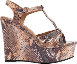 Jeffrey Campbell Swansong Snake Beige Brown