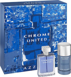Azzaro Chrome United Edt 50ml & Deodorant Stick 75ml