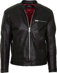 REPLAY M LEATHER JACKET - M8915B.000.83056-010 BLACK