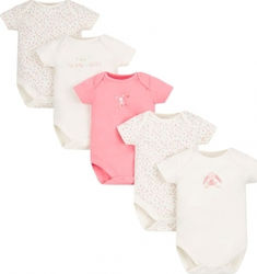 Mothercare Set Mummy and Daddy 5 Φορμάκια 0-1 μηνός 56cm - Pale Pink PD396