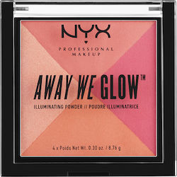 Nyx Professional Makeup Away We Glow Illuminating Powder Crushed Rose 8.76gr
