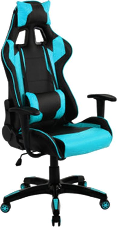 ES Market Πολυθρόνα Γραφείου Gaming ΚΥΛΛΗΝΗ Μπλε/Μαύρο PVC 66x67x127-135cm