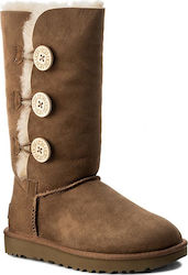 Ugg Australia W Bailey Button Triplet II 1016227 W/Chestnut