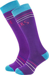 HORSEFEATHERS ARWEN SNOW SOCKS PURPLE