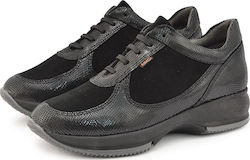 Γυναικεία Sneakers Ragazza 0261 leather Black