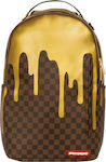 Sprayground Backpack Gold Checkered Drips 910B1637NSZ
