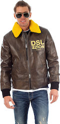 Diesel Jacket L-Bowdre-Paint-Brown (Μπουφάν Ανδρικό Leather Brown - 00SIPQ OGATB 73P)