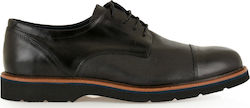 STEVE KOMMON LACE-UP SHOES H579V9811002 - ΜΑΥΡΟ ΔΕΡΜΑ