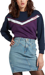 Wrangler Logo Women's Sweat W6072HYWT - PURPLE PENNANT