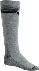 Burton Emblem Midweight Snowboard Socks - Grey Heather
