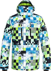 QUIKSILVER Mission Print Ανδρικό Snow Jacket - Lime Green