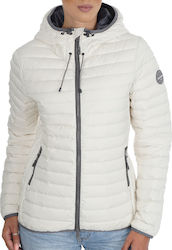 Superdry Core Down Hooded White