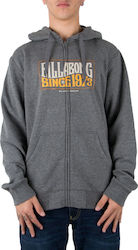 BILLABONG Ζακέτα με κουκούλα WAVE DAZE ZH-L1ZH01-DARK GREY HEATH