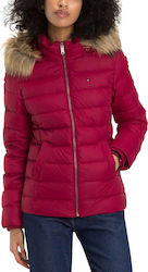 Tommy Hilfiger Essential Hooded Down Rumba Red