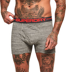 Superdry Sport Boxer Double Pack Ανδρικά Εσώρουχα M31000NR - Γκρί