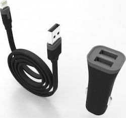 Muvit MFI Car Charger 2 with Lightning Cable MUPAK0285