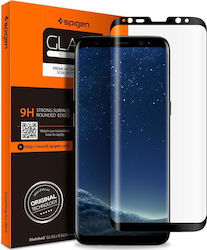 Spigen GLAS.tR Curved Full Face Tempered Glass Black (Galaxy S9+) 023b2b4cada