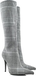JEFFREY CAMPBELL GAMORA-KH HIGH HEEL BOOTS - 0101002182 CHECKERBOARD