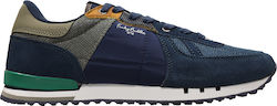 FUNKY BUDDHA MEN SHOES SNEAKERS (FBM009-08218-NAVY)