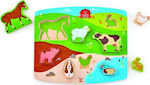 Farm Animal Puzzle & Play 8pcs (E1454) Hape