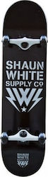 Shaun White Supply Co. Logo Core Black/White Skateboard Deck 8""