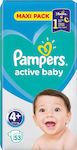 Pampers Active Baby No 4+ (10-15kg) Maxi Pack 53τμχ