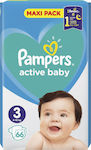 Pampers Active Baby Dry Maxi Pack No 3 (6-10kg) 66τμχ