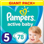 Pampers Active Baby Dry Giant Box No 5 (11-16kg) 78τμχ