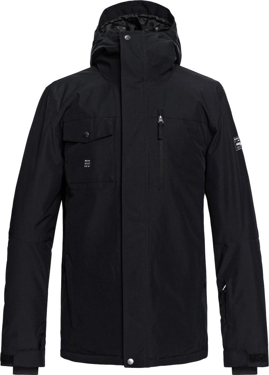 Quiksilver Casual Αδιάβροχο Mission Snow Jacket Μαύρο Με Κουκούλα ... 6f4b6f174d8