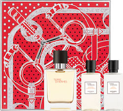 Hermes Terre d'Hermes Eau de toilette 50ml, Body Shower 40ml & After Shave Lotion 40ml