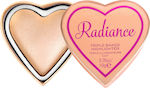 Makeup Revolution Glow Hearts Highlighter Rays Of Radiance 10gr