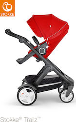 Stokke Trailz Classic Wheels Black Frame Red