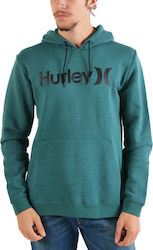 Hurley Men's Surf Check One&Only Pullover - Ανδρικό Φούτερ AQ0773-327 - RAINFOREST/(BLACK)