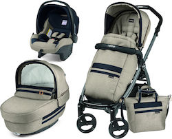 Peg Perego Book 51 Elite Modular 3 in 1 Completo With Bag Luxe Ecru