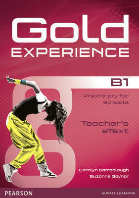 GOLD EXPERIENCE B1 ACTIVE TEACH Iworkbook SOFTWARE