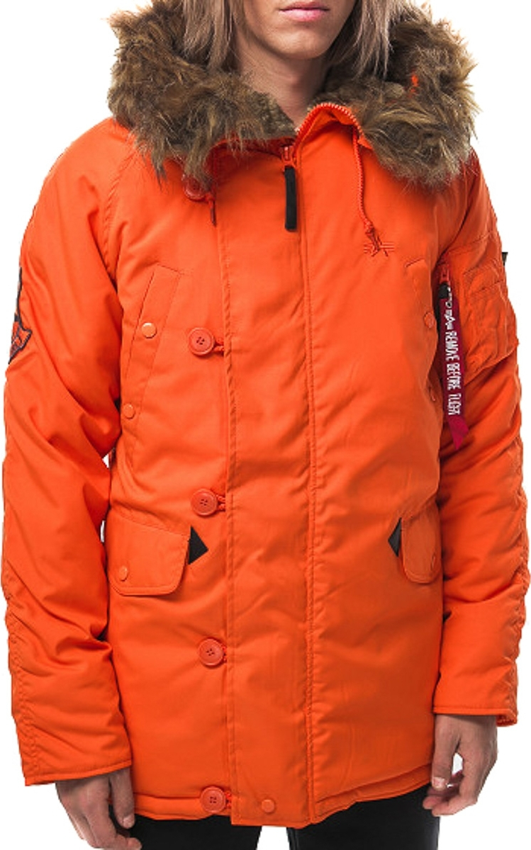 Alpha Industries Παρκά Cold Weather Explorer Πορτοκαλί - Skroutz.gr ea891ca9593