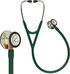 3M Littmann Cardiology IV 6206 Hunter Green & Champagne Finish Orange Stem