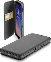 Cellular Line Book Clutch Μαύρο (Galaxy A6 2018)