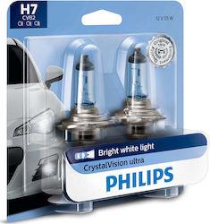 Philips H7 CrystalVision Ultra 12V 2τμχ Blister 903348553ed