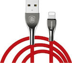 Baseus Braided USB to Lightning Cable Κόκκινο 1m (CALMW-09)