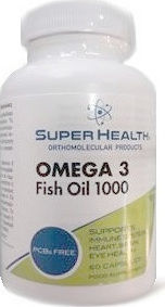 Super Health Omega 3 Fish Oil 1000mg 60 κάψουλες