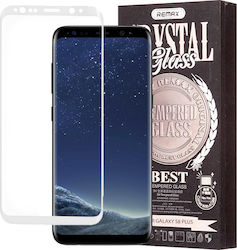 Remax 3D Full Face Tempered Glass & Clear Case (Galaxy S8+)